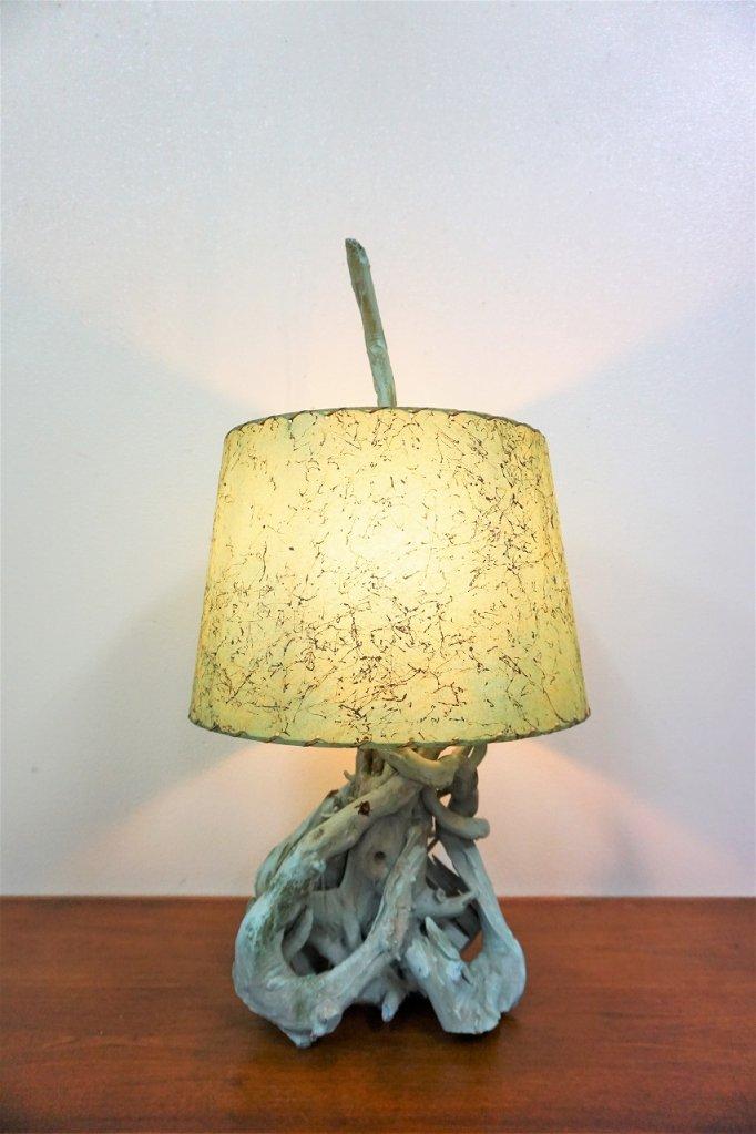 1950-60's ヴィンテージ 流木ベース テーブルランプ