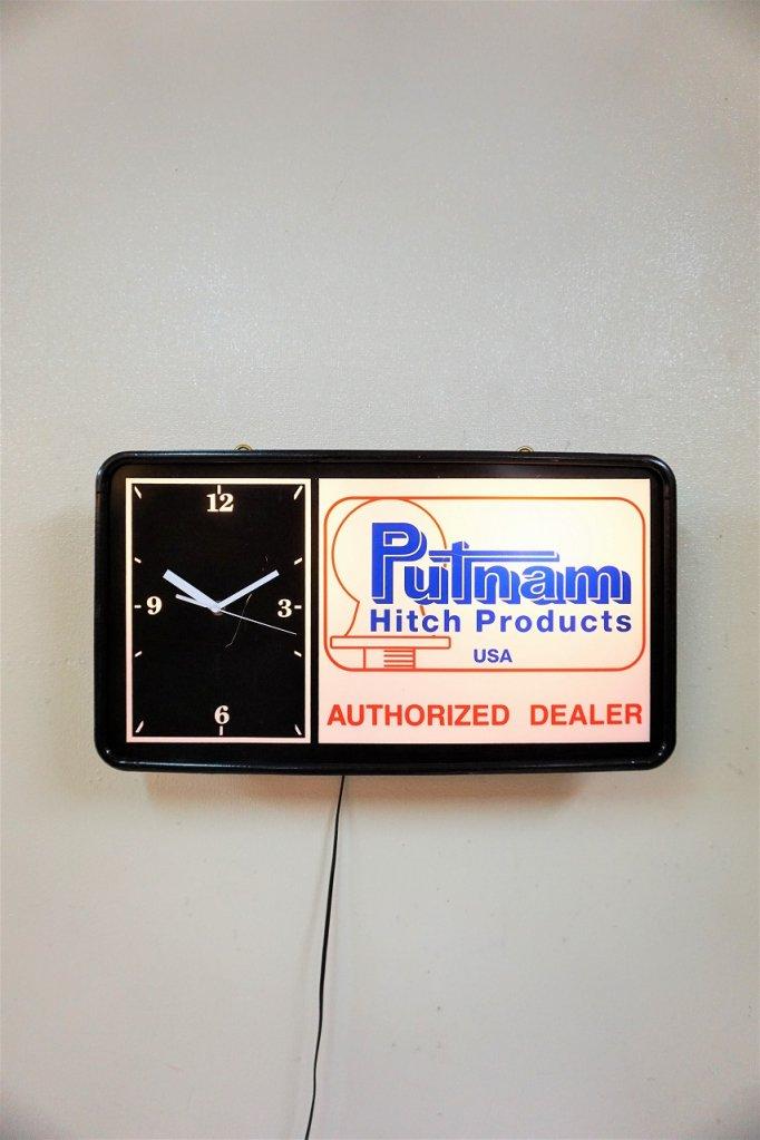 ヴィンテージ Putnum Hitch Products ライト付き クロック
