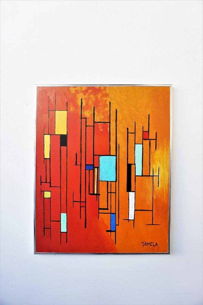 1970's ヴィンテージ ペイントアート ウォールデコ