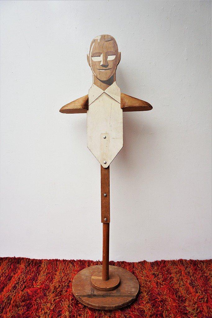 1920's アンティーク ウッド マネキン / トルソー