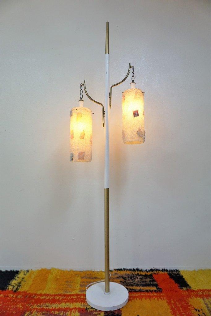 1960's ヴィンテージ スパゲティ 2灯 フロアランプ