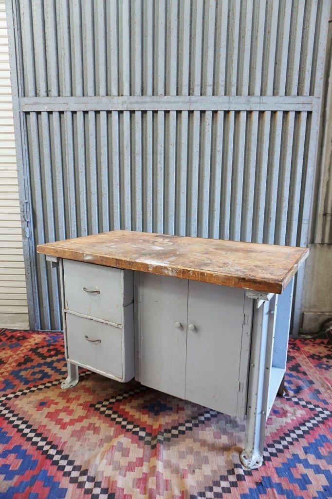 ヴィンテージ ウッド ワークテーブル