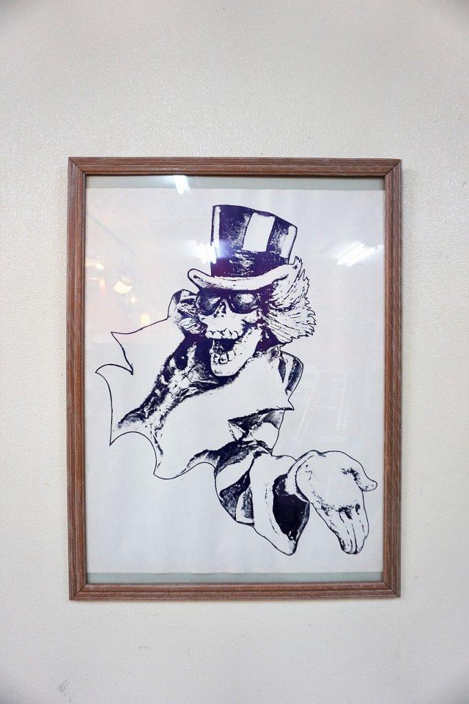 ヴィンテージ Uncle Sam Skeleton 額入り ポスター