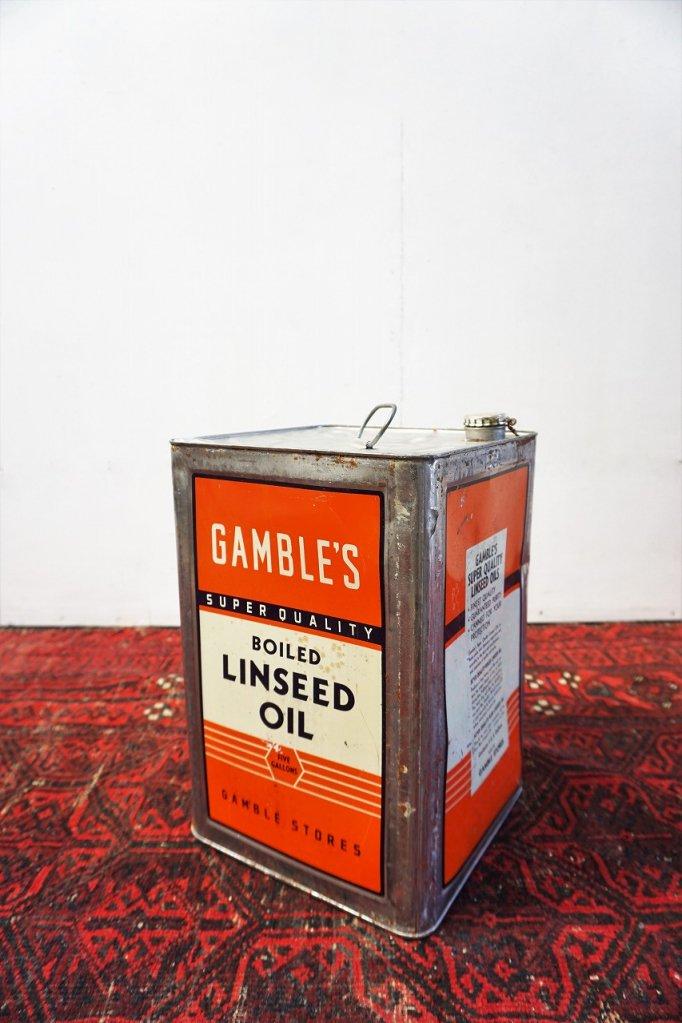 ヴィンテージ Gamble Store オイル缶�
