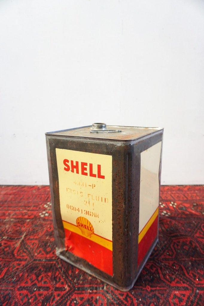 ヴィンテージ SHELL オイル缶