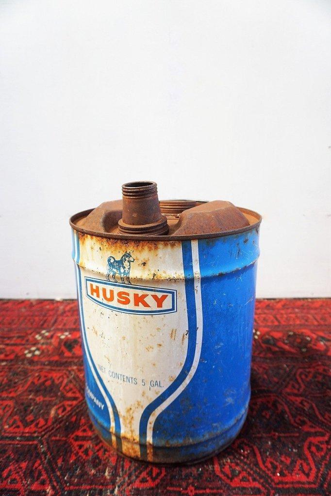 ヴィンテージ HUSKY オイル缶