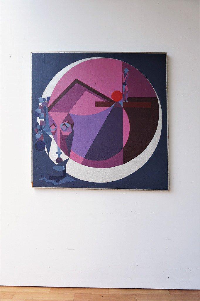 1960-70's ヴィンテージ ペイントアート ウォールデコ