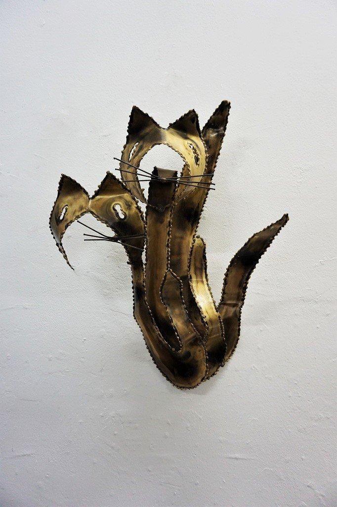 1960's メタルアート ウォール スカルプチャー