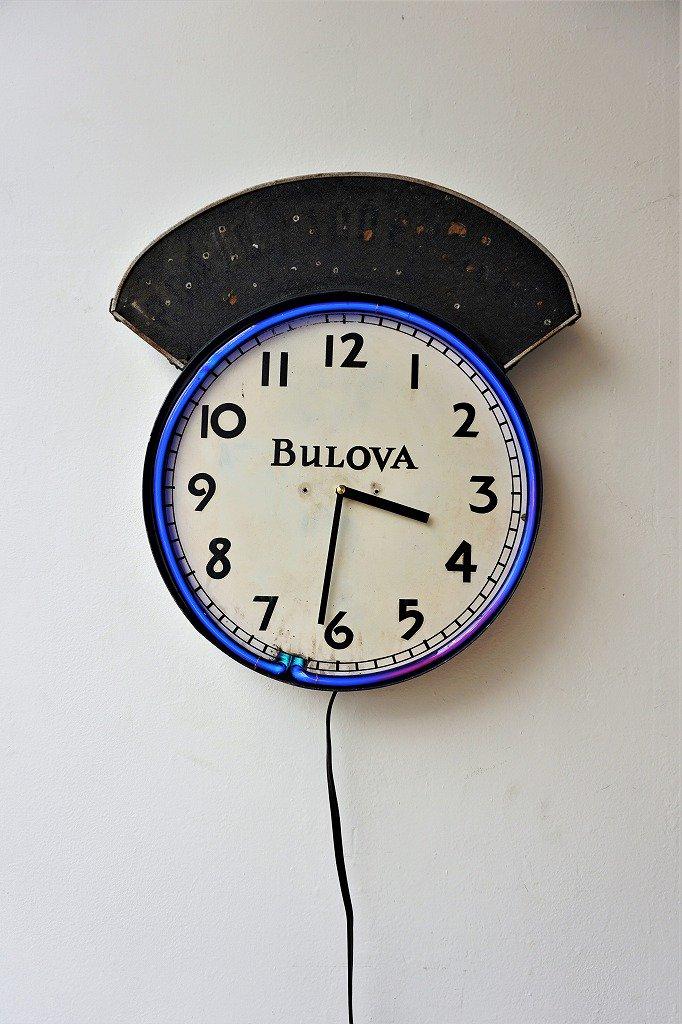 1920's Bulova社製 ネオン クロック