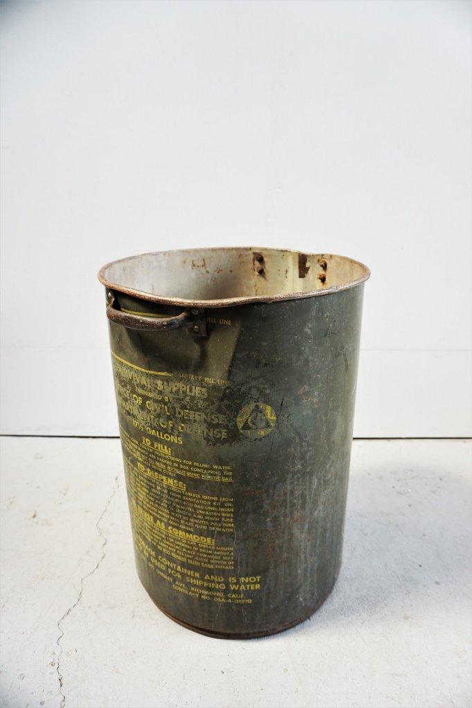 1960's ヴィンテージ ミリタリー ウォーターストック缶/ドラム缶