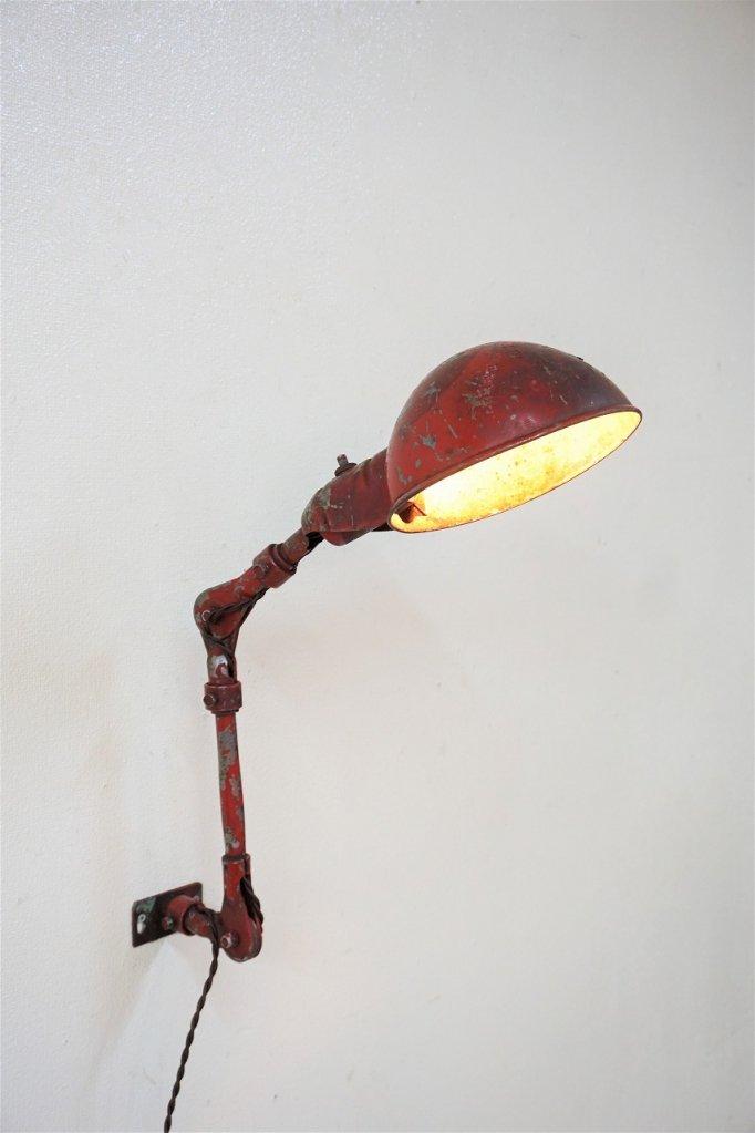 1940-50's ヴィンテージ スウィングアーム ブラケットランプ