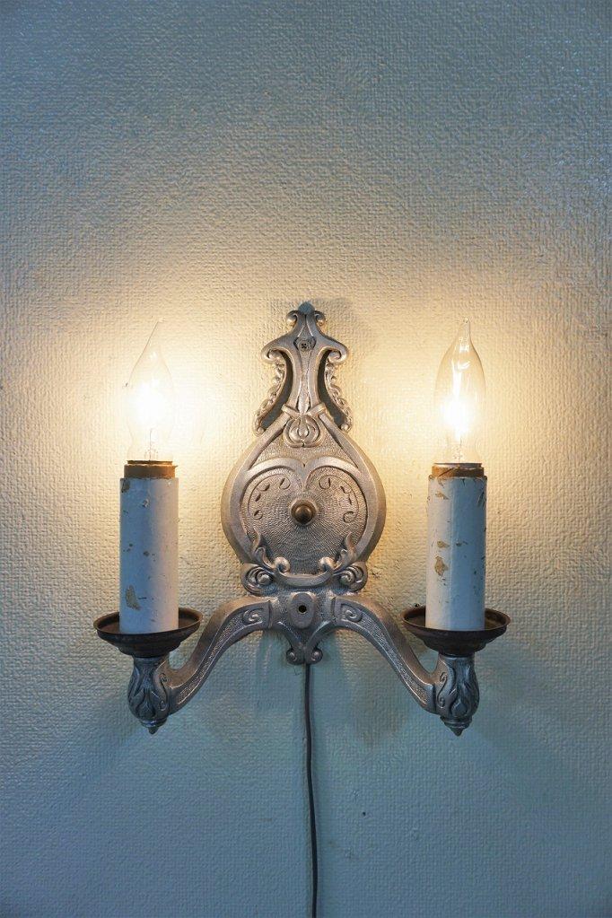 1930-40's ヴィンテージ 2灯 ブラケットランプ
