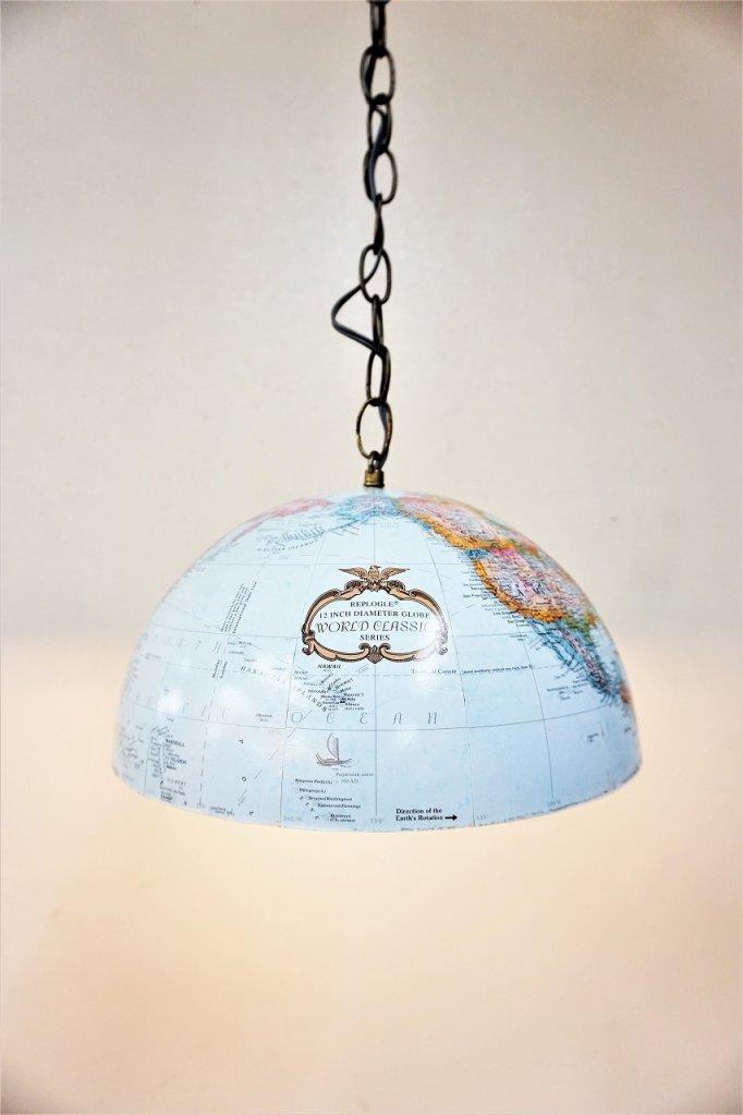 ヴィンテージ Replogle Globes社 地球儀 リメイク ペンダントランプ