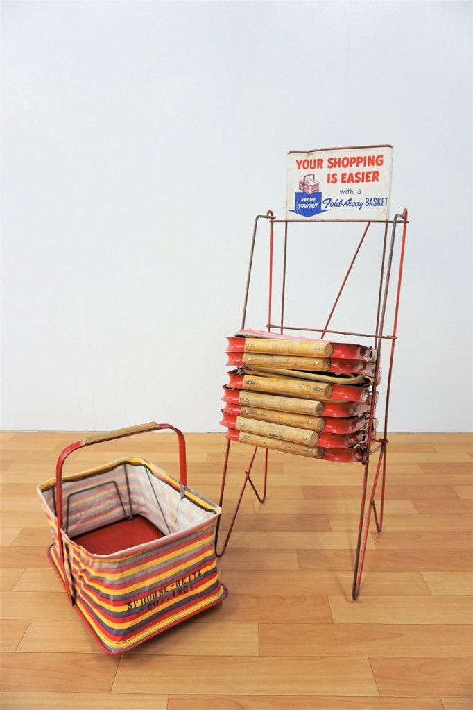 1950's FOLD-AWAY BASKET社製 ショッピングバックset