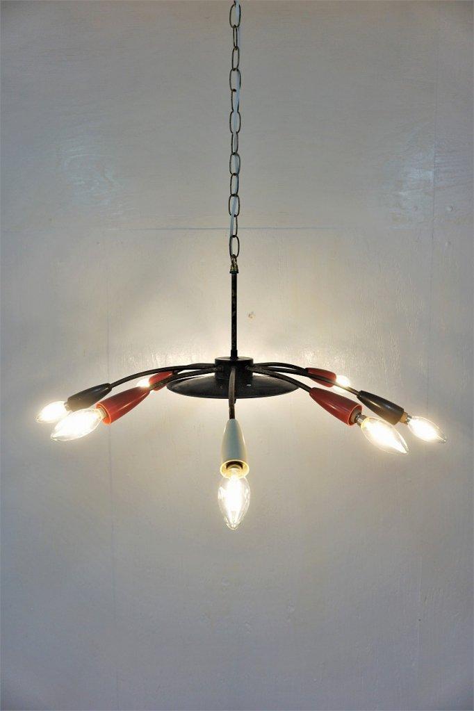 1950's ヴィンテージ 8灯 スパイダーランプ