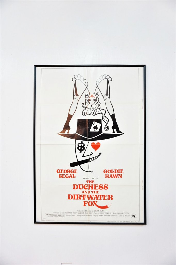1970's ヴィンテージ The duchess and the dirtwater fox 額入りポスター