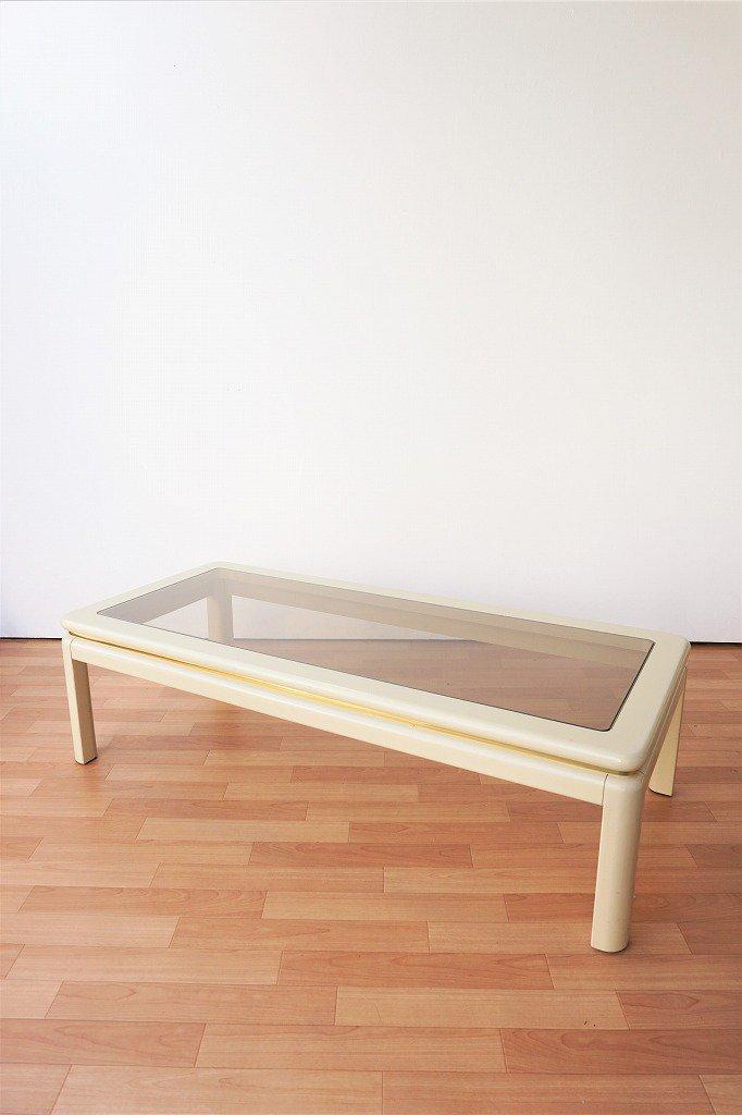 1980's LANE社製 ヴィンテージ ガラストップ コーヒーテーブル