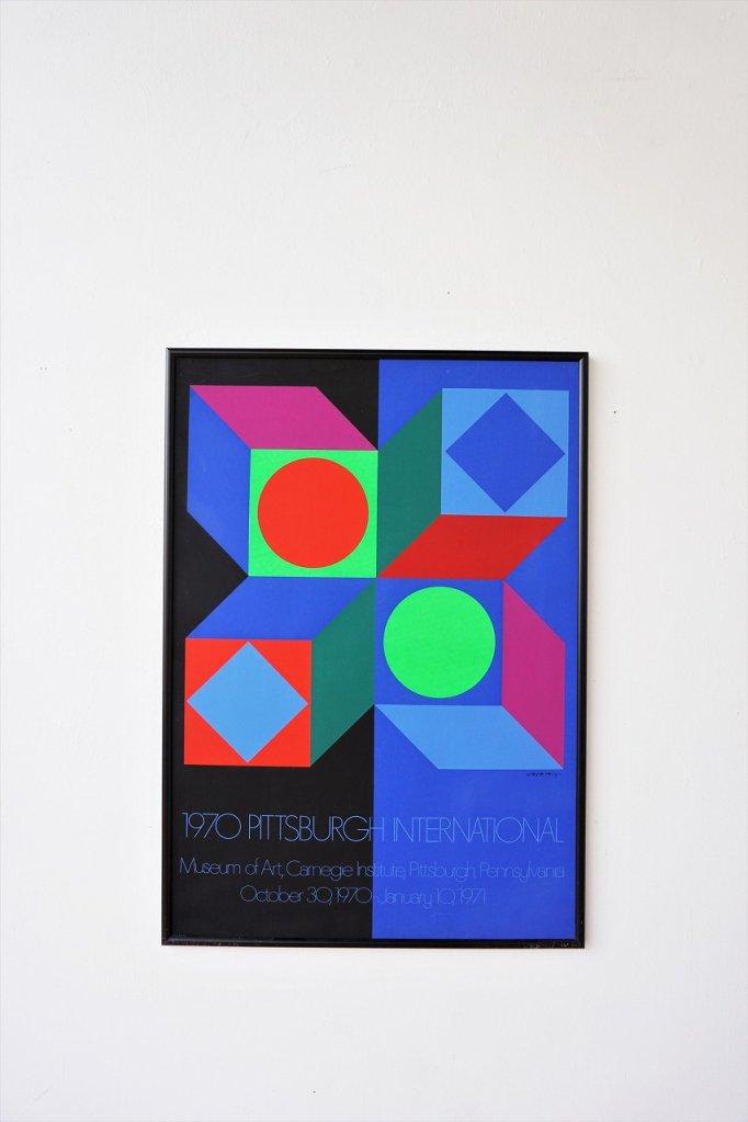 1970's Victor Vasarely 額入りポスター