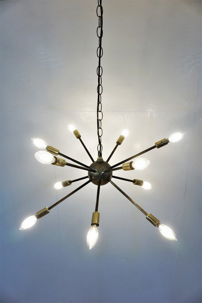1950's ヴィンテージ 12灯 スプートニク ランプ