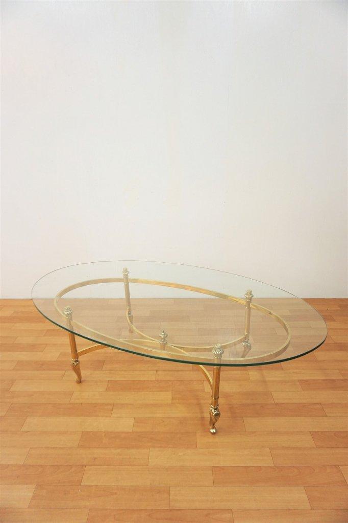 1960-70's ヴィンテージ ガラストップ テーブル※近畿圏内のみの販売/店舗お引き取り販売