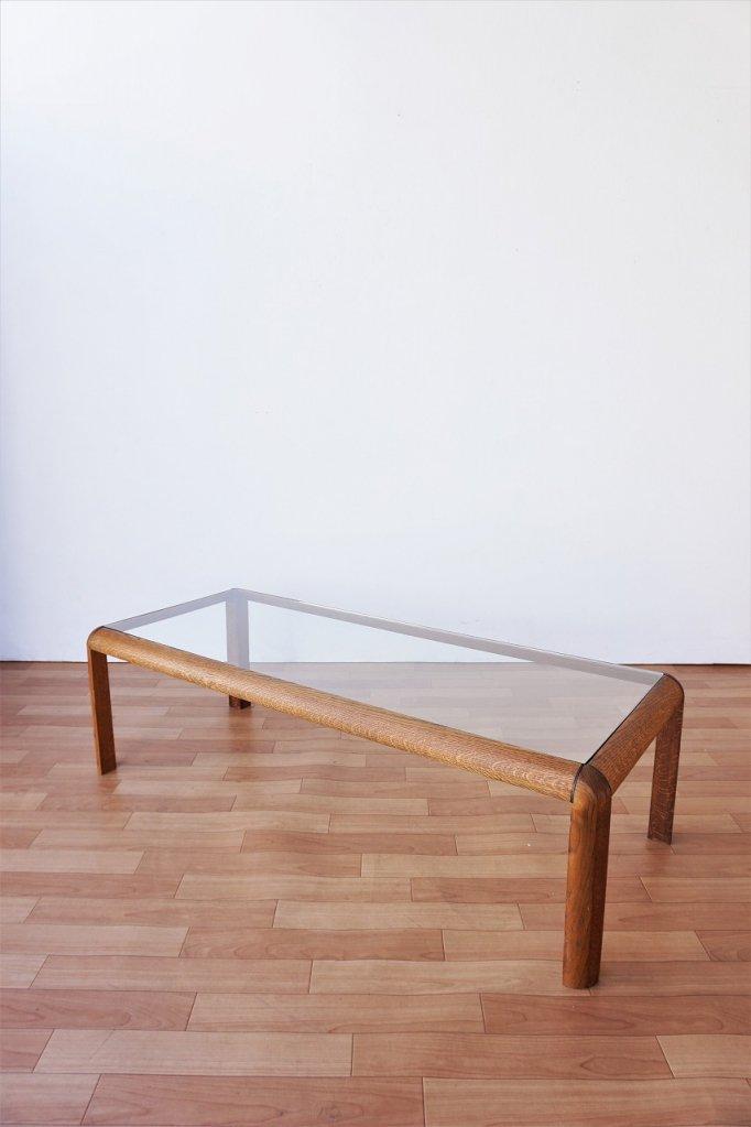 1980's ヴィンテージ ガラストップ ローテーブル