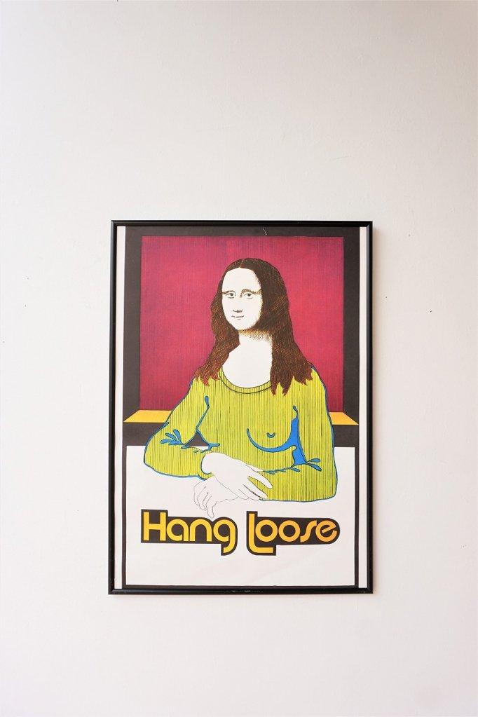 ヴィンテージ Hang Loose 額入りポスター