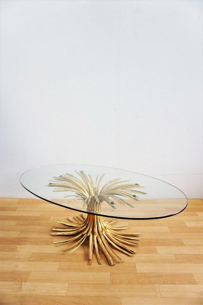 1960's ヴィンテージ ガラストップ ローテーブル