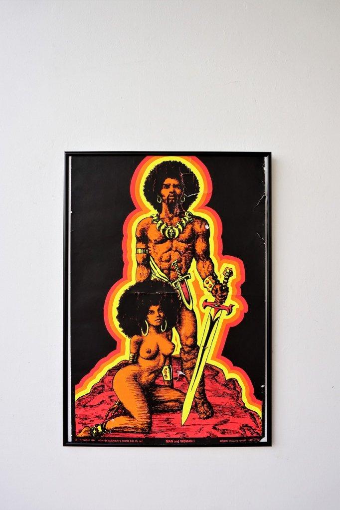 1970's ヴィンテージ 額入り ブラックライトポスター
