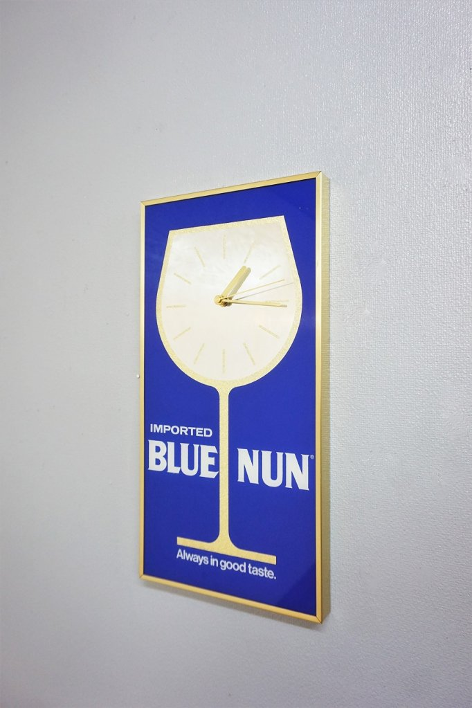 1970-80's BLUE NUN 社製 アドバタイジング クロック