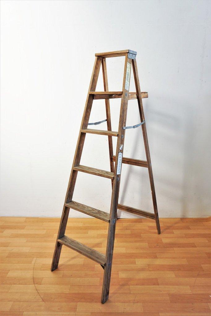 ヴィンテージ Keller社製 ウッド ラダー / はしご