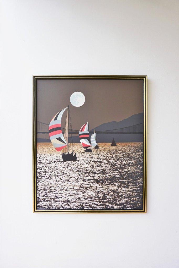 1980's ヴィンテージ ペイントアート ウォールデコ