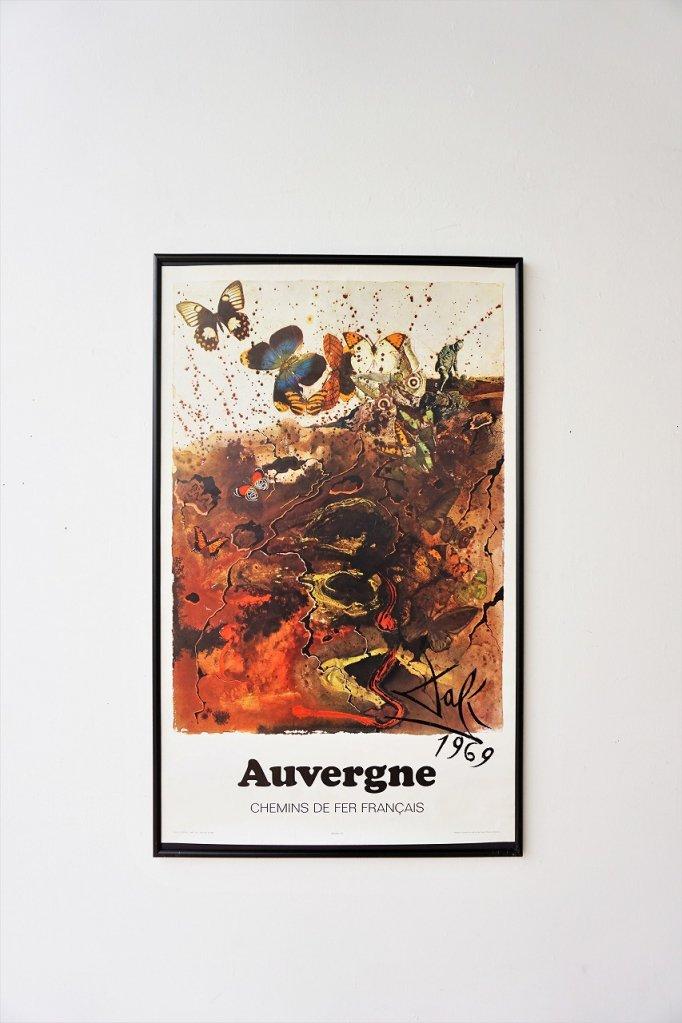 1970's Salvador Dali 額入りポスター