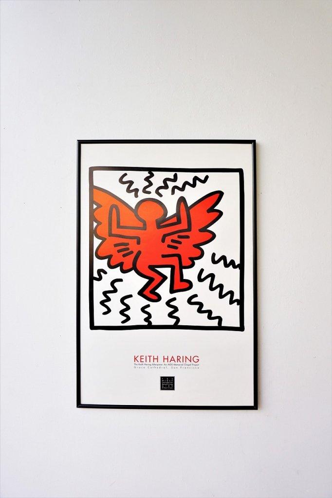 Keith Haring 額入りポスター