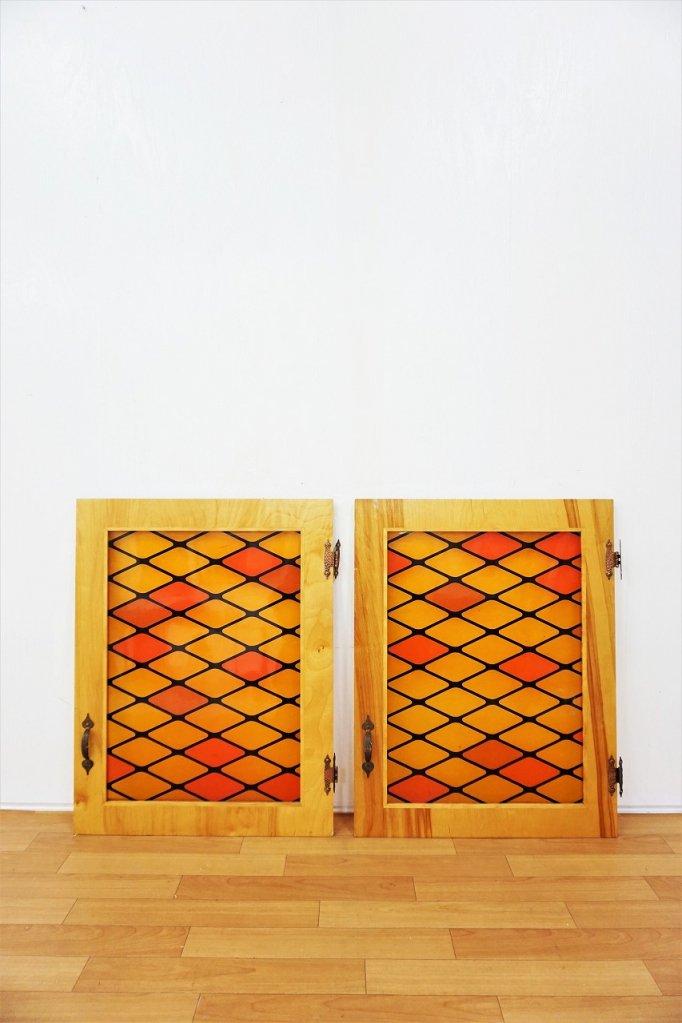 ヴィンテージ ガラスパネル/窓 Set