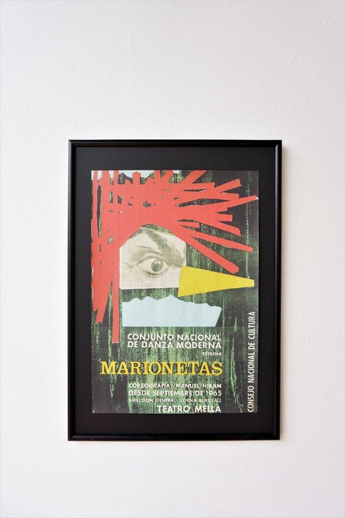 1960's MARIONETAS 額入りポスター