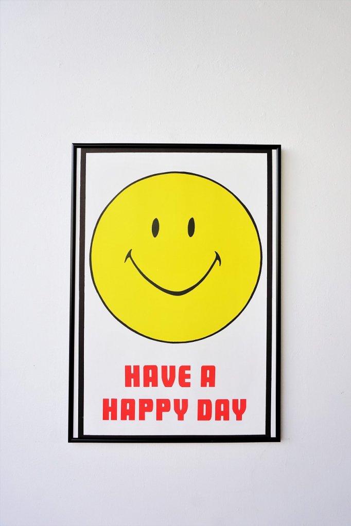 ヴィンテージ Have a Happy Day 額入りポスター