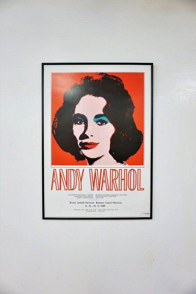 ヴィンテージ Andy Warhol 額入りポスター