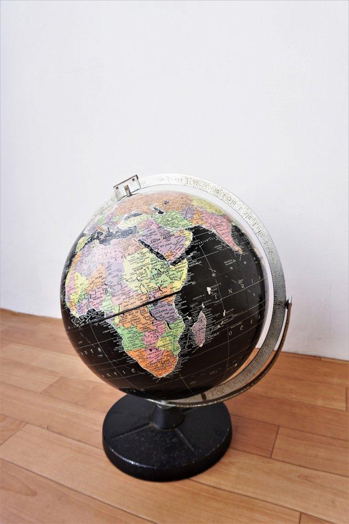 REPLOGLE社製 ヴィンテージ ブラックオーシャン グローブ / 地球儀