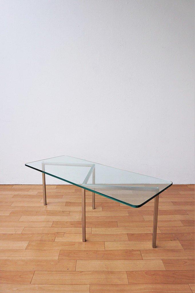 ヴィンテージ ガラストップ ローテーブル