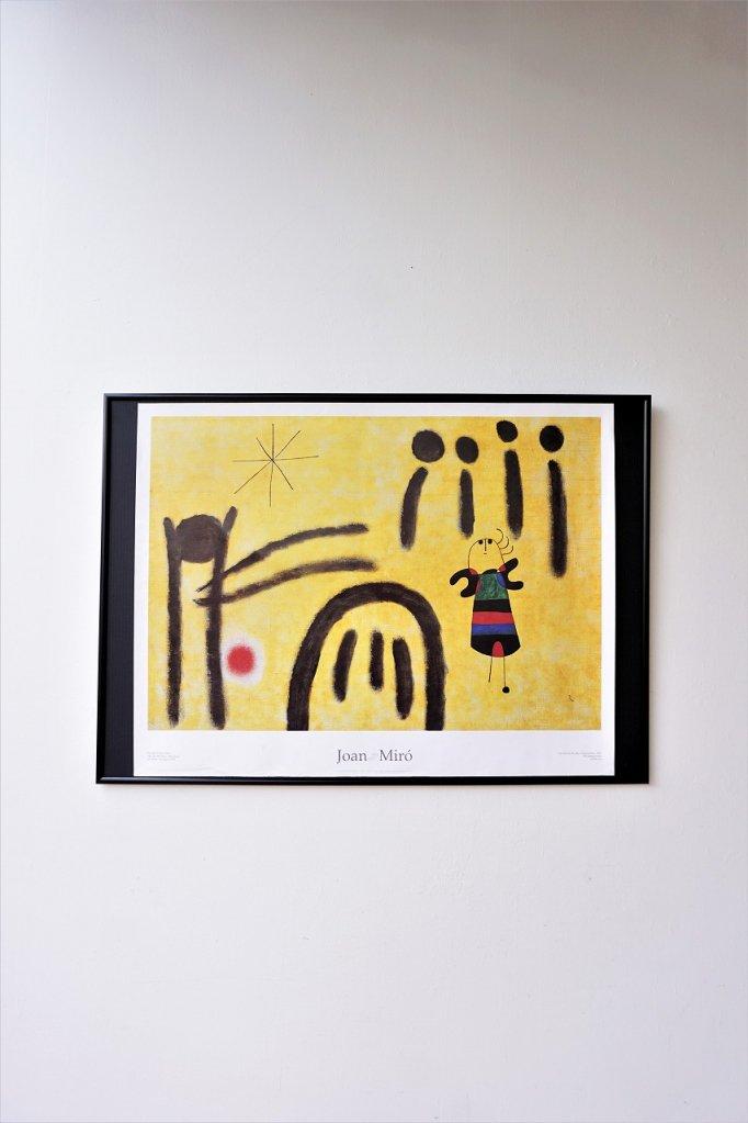 Joan Miro 額入りポスター