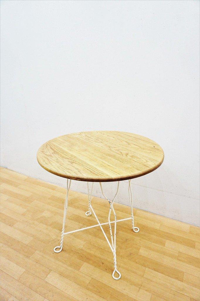 1930-40's ヴィンテージ サークル ウッド カフェテーブル
