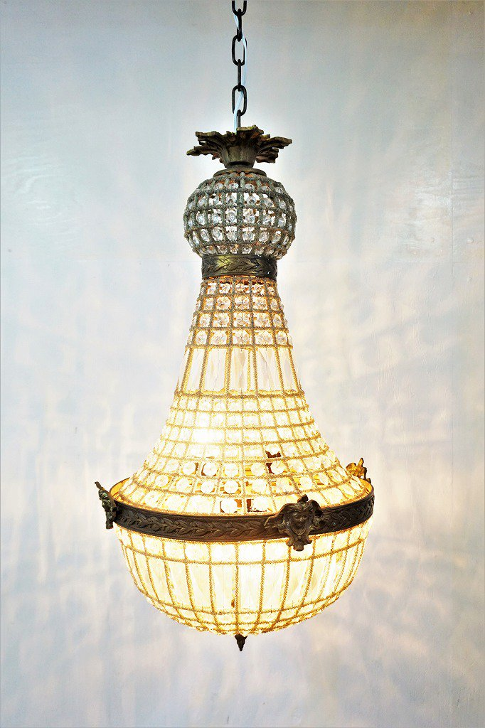 1960's ヴィンテージ スペイン製 4灯 シャンデリア