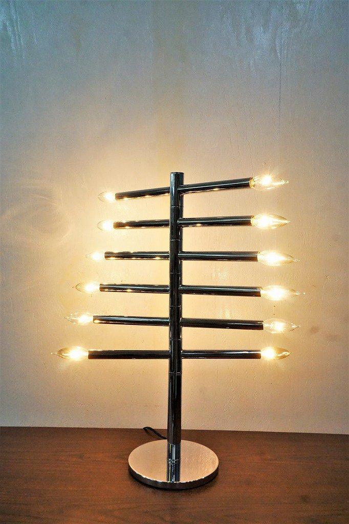 ヴィンテージ クローム 12灯 テーブルランプ