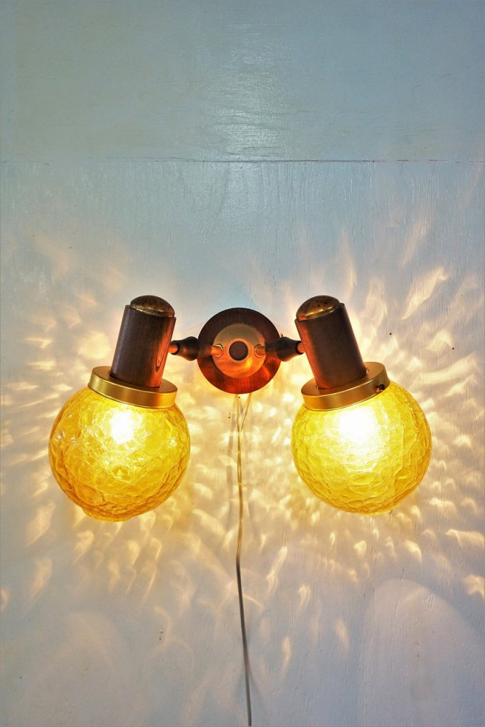 ヴィンテージ 2灯 ブラケットランプ(同型2点有り)
