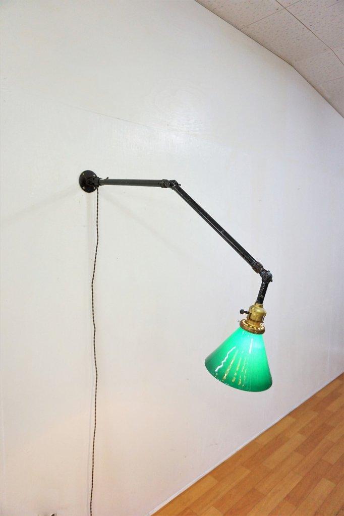 1920's ヴィンテージ スウィングアーム ブラケットランプ