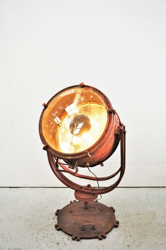 ヴィンテージ 4灯 インダストリアル フロアランプ