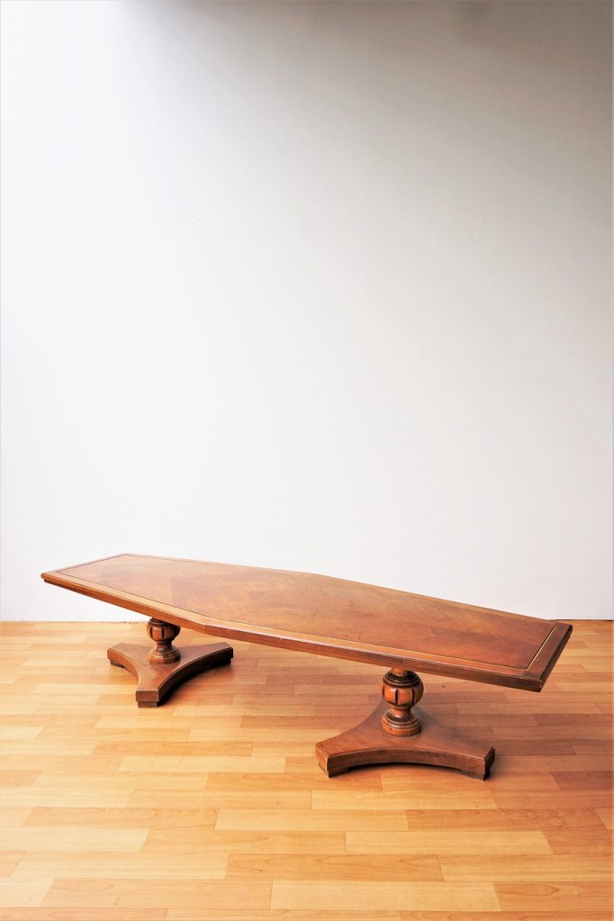 1960's BUSSETT社製 ヴィンテージ ウッド ローテーブル