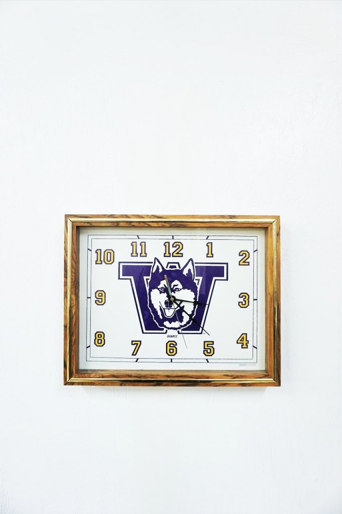 Washington Huskies アドバタイジング クロック