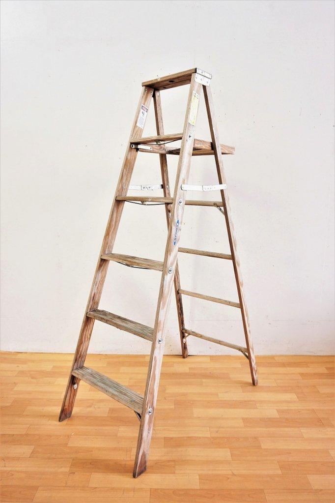 ヴィンテージ WERNER社製 ウッド ラダー / はしご