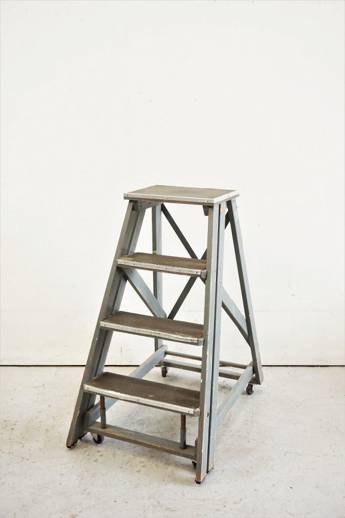 ヴィンテージ ウッド ステップラダー / はしご